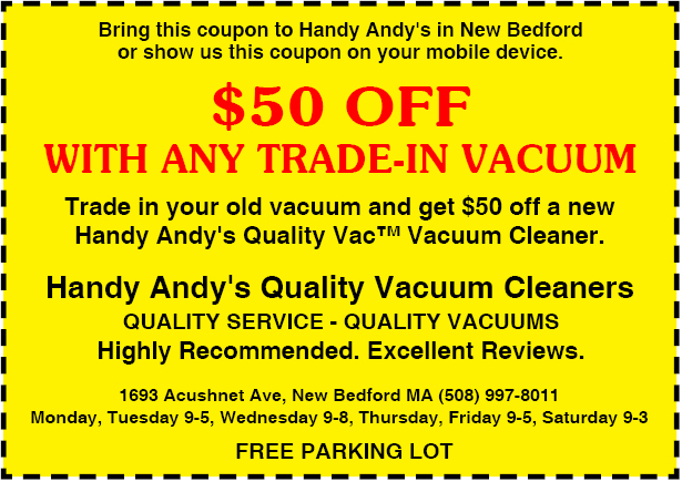 Handy Andy S Quality Vacuum Cleaners Coupons